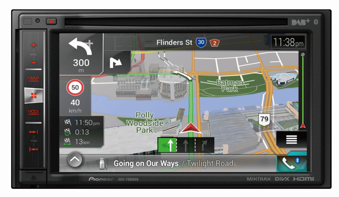 Audio Visual Security | Sat Nav Pioneer AVIC F98DAB